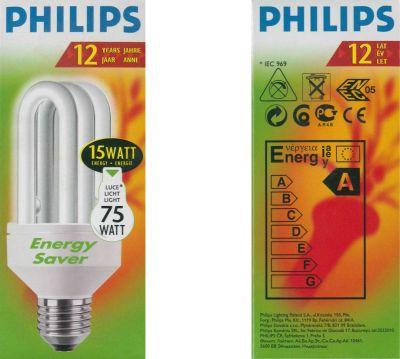 Philips Energiesparleuchtmittel Stabförmig 15W Sparleuchtmittel E27