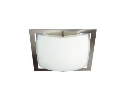 Wandleuchte Deckenleuchte E27 Glas Metall Silber 36x36cm