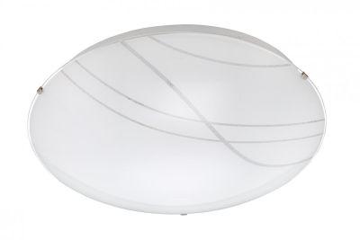 Runde LED Deckenleuchte Weiß Dimmbar Fernbedienung Ø 40cm Nachtlicht Dekorglas