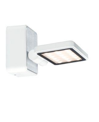 Wandleuchte Außenleuchte LED 7,2W IP44 Weiß Matt Aluminium Schwenkbar 420 Lumen