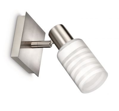 Philips myLiving Spot Wandleuchte Strahler Wandspot Energiespar Glas Silber