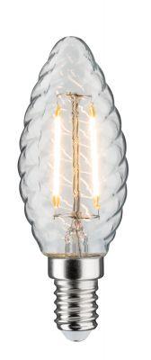 Paulmann LED Kerzenlampe 230V E14 Leuchtmittel 2,5W Gedreht klar 2700K