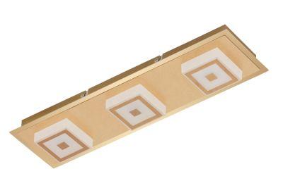 LED Wandleuchte Deckenleuchte 3 Flammig Gold Metall 1200lm Warmweiß 44x12x5,4cm