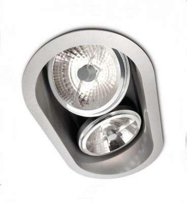 Philips Halogen SmartSpot, Einbauspot, 2-flammig, dimmbar Aluminium