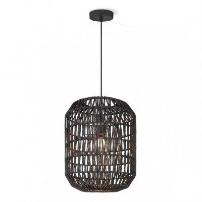 Pendelleuchte Kordelgeflecht Schwarz LED tauglich 1 x E27 60W/230V Ø35cm 150cm