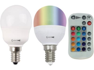 Lightme LED Leuchtmittel Set E14 mit Fernbedienung Dimmbar Farbwechsler 5W RGBW