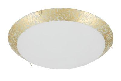 Deckenleuchte 1x LED 8,4W/230V Gold Glas 900lm 4000K Rund Ø30cm Höhe 9,5cm