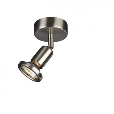Deckenspot Wandspot Aufbauspot GU10 230V Silber Schwenkbar Leuchtmittel inkl.