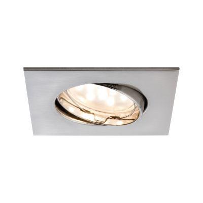 LED Einbauleuchte Eckig 6,8W Schwenkbar IP23 Badleuchte Silber Warmweiß 430lm