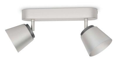 Philips Deckenleuchte 2x LED je 4W/230V Silber 660lm Schwenkbar 13,7x24,2x8,2cm