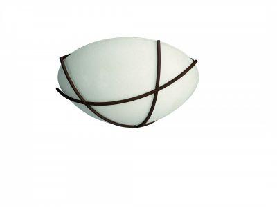 Wandleuchte Scavoglas Rustikal Rostbraun Deckenleuchte Ø30cm E27 LED geeignet