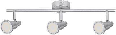 Ledvance LED Deckenleuchte Silber 3 Flammig Schwenkbar GU10