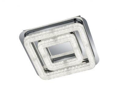 Diese hübsche Deckenleuchte liegt dank ihrer LED Technik absolut im Trend. Die beiden leuchtenden Quadrate präsentieren sich in einer eleganten glitzernden Kristalloptik.