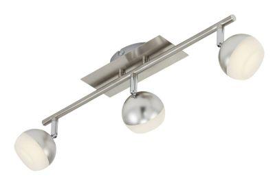 Briloner LED Deckenleuchte 3 Flammig Silber Metall 1050lm Warmweiß Schwenkbar