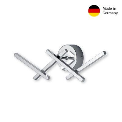 Deutsche LED Wandleuchte 16W/230V Chrom Metall 1400lm Warmweiß 11,5x44cm