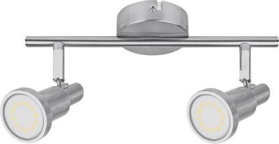 Ledvance LED Deckenleuchte Silber 2 Flammig Schwenkbar GU10