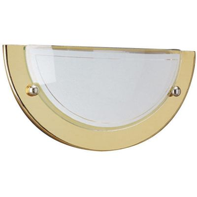 Wandlampe Glas Gold Wandleuchte E27 LED tauglich