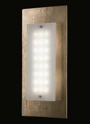 Fischer Shine LED Wandleuchte 10,8W/230V Antik Gold Glas 1276lm Warmweiß 42x19cm