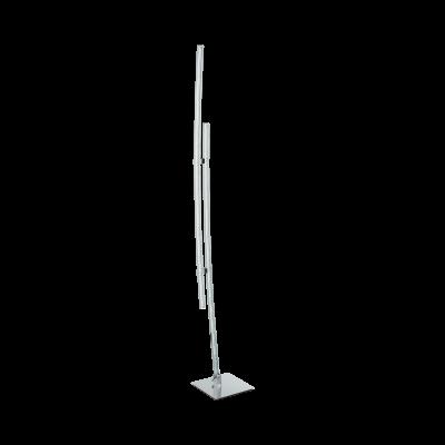 Eglo LED Stehleuchte Chrom 2 Flammig 2400lm Fußtrittschalter Höhe 132cm