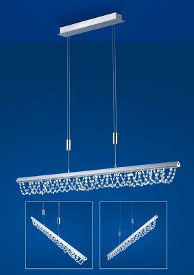 Deutsche LED Pendelleuchte Kristalle Höhenverstellbar Tastdimmer 3900lm