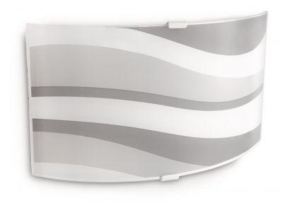Philips myLiving Energiespar Wandleuchte Dekorglas Wandlampe Grau