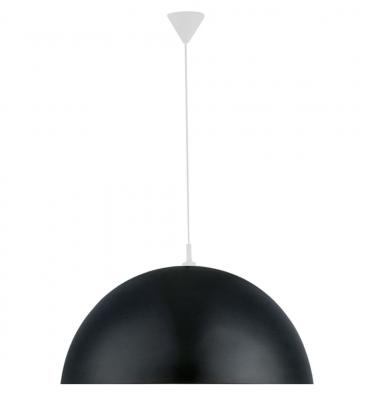 Hänge-/Pendelleuchte 1xE27 max. 50W/230V LED tauglich Metall Schwarz Weiß Ø40cm