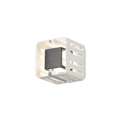Konstsmide LED Wandaussenleuchte Weiß IP54 Aussenleuchte Aluminium
