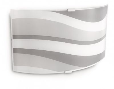 Wandleuchte Dekorglas Grautöne Grau Glas 28,4cm