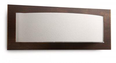 Wandleuchte Glas Braun Halogen Rustikal 30cm breit