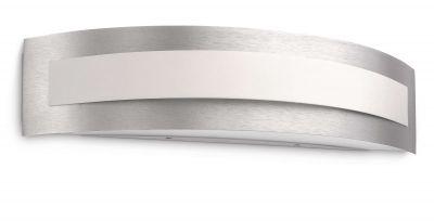 Energiespar Wandleuchte Aluminium gebürstet inkl. Leuchtmittel 40cm