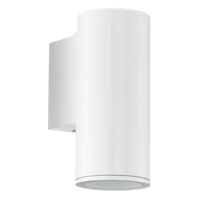 LED Wandaußenleuchte 1x GU10 max. 3W/230V Weiß Stahl verzinkt IP44 6,5x15x9,5cm