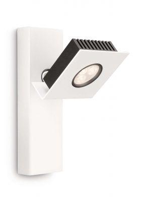 LED Wandspot Massive Strahler Weiß 6W/230V 290lm 18x8,4x11,7cm