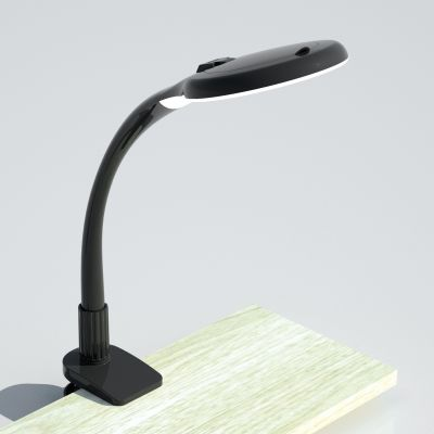 Klemmleuchte Schreibtischleuchte LED 5Watt Vergrößerung bis 5 Fach Schwarz