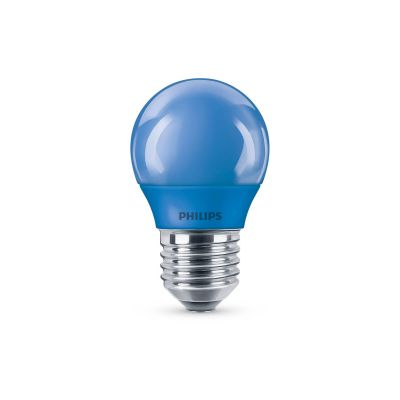 Philips LED Leuchtmittel E27 kurze Birnenform Blau 3,1W Tropfen