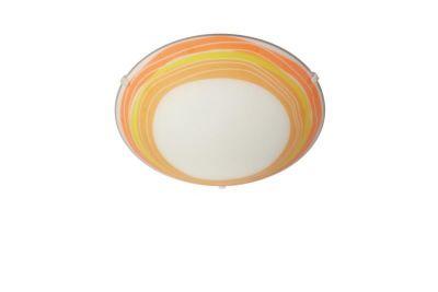 Decken-/Wandleuchte Philips Glas Weiß Orange 1x E27 max. 60 Watt Ø30cm