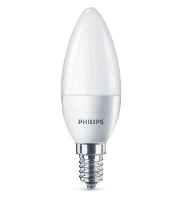 Philips LED Leuchtmittel Kerze E14 Kerzenform 5,5W Warmweiß Glühbirne