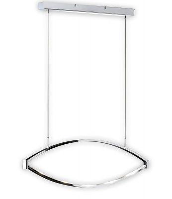 LED Pendelleuchte Schwenkbar Design Silber 6 flammig 1440lm