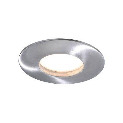 Runde LED Einbauleuchte 5,5W Alu gebürstet 4–Stufen Dimmbar Warmweiß 350lm Ø83mm