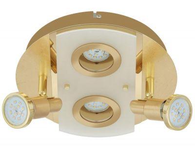 LED Deckenleuchte Gold 4 Flammig Drehbar Schwenkbar Rund Warmweiß Ø 33cm