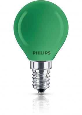 Philips Leuchtmittel Tropfenform E14 Kugel 15W Grün Glühlampe Partylight