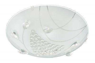 Briloner LED Deckenleuchte Weiss Glas 1200lm Rund Ø 30cm Kristalloptik 12W