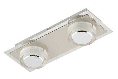 Briloner LED Wandleuchte Deckenleuchte 2 Flg. Silber 800lm 3000K 26x10x5,4cm