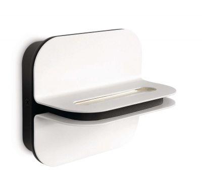 Philips LED Wandleuchte IP20 260Lumen warmweiß Metall weiß Schalter