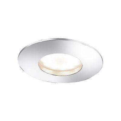 Runde LED Einbauleuchte 5,5W/230V Eisen gebürstet 4 – Stufen Dimmbar Ø 8,3cm