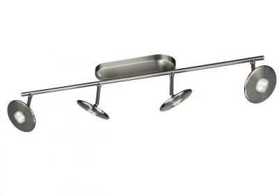 LED Spotleiste 4 Flammig Schwenkbar Deckenleuchte Silber