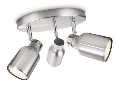 Philips Ecomoods Spotrondell Silber 3 flg. Schwenkbar Ø 194mm