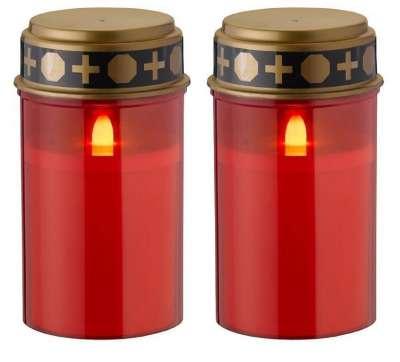 LED Grabkerze Rot