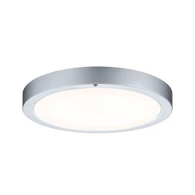 Runde LED Deckenleuchte Panel Chrom Matt  Durchmesser 30cm Fernbedienung Alu