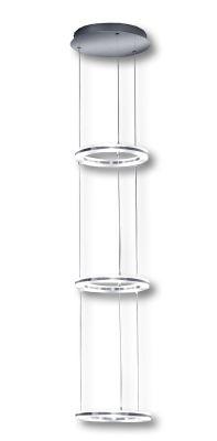 Deutsche LED Hängeleuchte Nickel Matt Chrom 50W/230V 5000lm Dimmbar Höhe 135cm