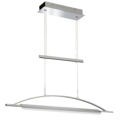 LED Pendelleuchte Hängeleuchte Silber 30W Höhenverstellbar Drehbar 97cm Breit
